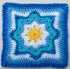 Ravelry: Project Gallery for Nordic Star Afghan Square pattern by Priscilla Hewitt free