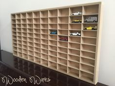 Matchbox, Hot Wheels model car storage. Designed in Brisbane Australia by WoodenWares
