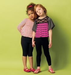Butterick Sewing Pattern Children's/Girls' Pullover Tops and Leggings Butterick Sewing Patterns, Kids Tops, Kids Patterns, Kids Pants, Clothing Patterns, Dress Patterns, Batwing Sleeve, Sewing For Kids, Kids Outfits