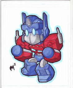 Sketch - Lil Optimus Prime by MattMoylan on DeviantArt