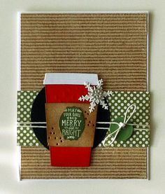 Card christmas coffee tea MFT die - warm wishes - Coffee Cup Die-namics, Echo Park Paper pad- The story of christmas & ´tis the Seasone
