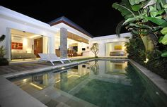 #Night view of villa #Lotus