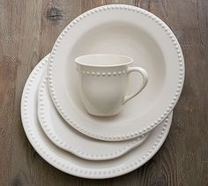 Emma Soup Bowl, Set of 4   Pottery Barn White 2 sets