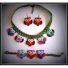 örgü baykuş takılar - Google'da Ara Crochet Belt, Knit Crochet, Crochet Necklace, Crochet Jewellery, Arte Popular, Crochet Accessories, Diy And Crafts, Jewelery, Projects To Try