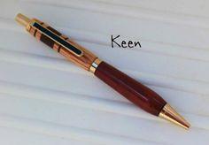 az - Keen Handcrafted Handmade Custom Purpleheart/Oak Gold Slimline Pro Pen