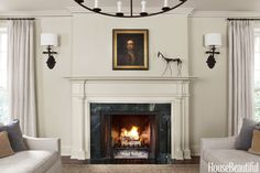 Our tour of unique interior design inspiration from Chicago designer Michael Del Piero continues with more thoughtful examples to consider. Luxurious Interior Design Inspiration in… Room Colors, House Colors, Wall Colors, Tuscan Design, Interior Paint Colors, Paint Colours, Home Trends, Fireplace Design, Interior Design Inspiration