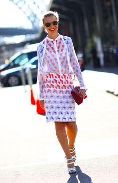Trend; Sheer & Prints  Natalie Joos in Dion Lee
