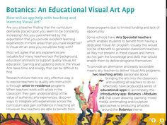 Botanics the introduction gives you the complete sequence of teaching and learning in the visual arts. The Botanics series of apps by Fullarton and Free includes drawing, painting, mixed media, printmaking and drawing.