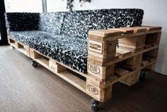 Hoy 15 ejemplos de sofás preciosos hechos con pales.