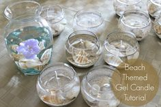 A tutorial on making beach themed gel candles. Great for beginners!