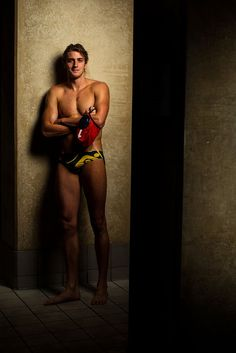 James Clark on the Olympic Water Polo team for Australia     @Kristin Rolla check out his cap