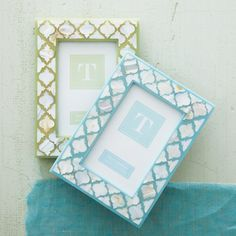 LUCKY!!  Buy now - shop at http://www.oceanbludesigns.com  Inlay Photo Frame - 4x6 (Sea Foam)