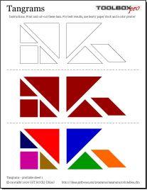 Tangrams - Folha de Impressão 1                                                                                                                                                                                 Mais