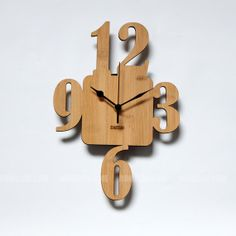 Bamboo Unique Wall Clock  369 by HOMELOO on Etsy, $39.99