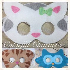 Daniel Tiger felt mask made to order party by ColorfulCharacters