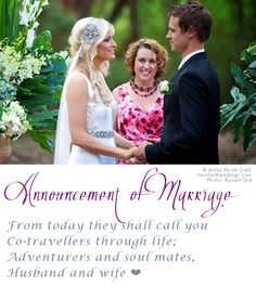 """Unique """"announcement of marriage"""" for adventurers and soul mates"""