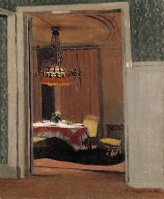 Dining Room, Evening, 1904, Félix Vallotton