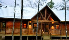 Book a stay at the Buckeye Cabin in Ringold, Oklahoma, a secluded, cozy cabin perfect for your next getaway. Relax on the wrap-around deck and roast marshmallows in the fire pit after a day spent hiking near the cabin.