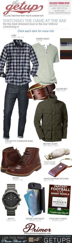 The Getup: Watching the Game at the Bar & Exclusive 20% Off at us.levi.com | Primer