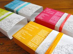 A soap packaging assignment for a soap company needing soap for a range of four varieties.