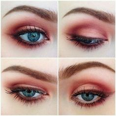 Grunge Makeup Look Idea: Red Eyeshadows
