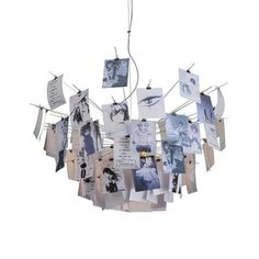 Notes Light, 120cm. Basically notes crocodile clipped to spokes.