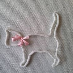 Cat knitting to order, 3 designs and color choice, pet, feline - Wire Crafts, Diy And Crafts, Crafts For Kids, Arts And Crafts, Spool Knitting, Watercolor Tips, I Cord, Decoration Originale, Baby Kind