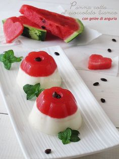 Panna Cotta, Flan, Jello Recipes, Party Buffet, Le Diner, No Cook Desserts, Something Sweet, Finger Foods, Food Art