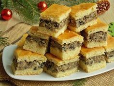 ***Borscht cake w/mushrooms*** Christmas Dishes, Christmas Cooking, Polish Recipes, Recipes From Heaven, Savoury Cake, Finger Food, Cake Recipes, Good Food, Food And Drink