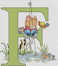 Seraphina Alphabet Letter F Cross Stitch Kit
