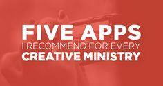 Five Apps I'd Recommend For Every Creative Ministry LOVE the idea.especially for Gateway! Church Ministry, Youth Ministry, Ministry Ideas, Youth Group Activities, Youth Group Events, Kids Church, Church Ideas, Church App, Church Outreach