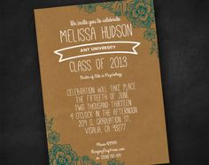 Printable Graduation Announcement and Invitation- highschool, college, or jr. high
