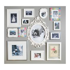 UNG DRILL Frame  - IKEA - I like the idea of a Gallery wall for her room!