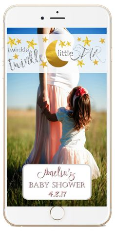 Custom Baby Shower Girl Snapchat Geofilter, Baby Shower Twinkle Twinkle Little Star, Snapchat Filter, Boy or Gender Neutral Filter