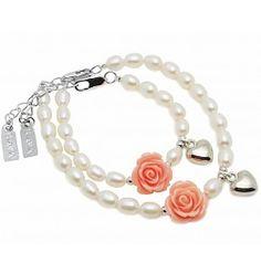 Kaya Sieraden Set moeder dochter armbanden Flower