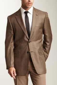 Valentino Brown Houndstooth Sportcoat
