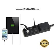 Mounted to a small shelf, JoyNano makes a convenient docking station. The JoyNano 36W 6-Port USB Charging Station 5V/7.2A with built-in Smart IC, Intelligently identifies the USB device and it can charge 6 USB devices simultaneously. Support all 5V output devices based USB interface.