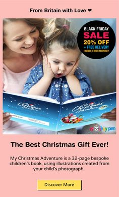😲 Surprise your kid this Christmas 🎄 with this amazingly unique personalised comic book 📔! 🎁 Best & the buzziest gifts for your kids this Christmas 🎄 🎉 📔 Personalised Story Books for your kids 👶 👦 👧 Get one before our Black Friday offer expires. My Christmas Adventure is a 32-page bespoke children's book, using illustrations created from your child's photograph. 🚨 Our BLACK FRIDAY DEAL >> FLAT 20% Off On All Personalised children's books! 🚨 Offer Valid between <27th - 30th NOV 2020> Personalised Childrens Books, Personalized Books, Personalized Christmas Gifts, Unique Christmas Gifts, Story Books, Children's Books, Childrens Christmas Books, Children Images, Book Projects