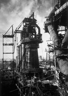 melisaki:    Blast Furnace, Magnitogorsk Metallurgical Industrial Complex, USSR  photo by Margaret Bourke-White, 1931