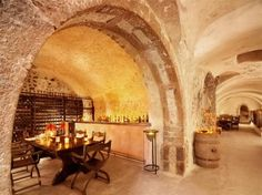 I had lunch in this nderground Wine Cave Santorini, Greece
