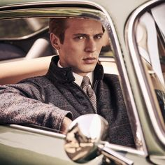 See the Hackett Autumn/Winter 2018 Advertising Campaign at FashionBeans. See the full collection of images photographed by Diego Merino featuring Jules Raynal & Oli Lacey for Hackett. Portrait Photography Poses, Photography Poses For Men, Portraits, Carros Vintage, Car Poses, Best Photo Poses, Men Photoshoot, Fallen London, Lakme Fashion Week