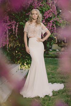 Yoav Rish - Bridal Atelier - Wedding Dresses Gorgeous 20's style glam wedding dress with sleeves. Boho Chic.