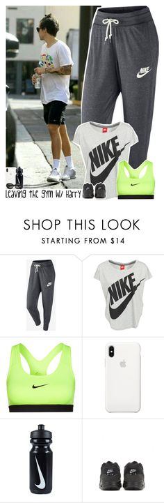 """""""Leaving the gym with Harry"""" by stylesxgucci ❤ liked on Polyvore featuring NIKE, Apple, Acne Studios and harrystyles"""