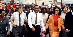 In the name of African-American voting rights, 3,200 civil rights demonstrators, led by Martin Luther King Jr., begin a historic march 49 years ago today, (3-21-65) from Selma, Alabama, to the state capitol at Montgomery.