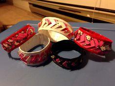 Hello kitty duck tape bracelets