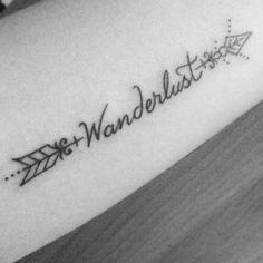 Wanderlust tattoo arrow seta vintage travel world tatto tatuagem hipster cool ideas tatuagem palavra geométrica