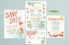 Pretty watercolor painted details matched with a bold font will make for the statement wedding invitations of the year! Take them for a spin using your favorite custom colors! See more here: https://www.basicinvite.com/wedding/wedding-invitations.html