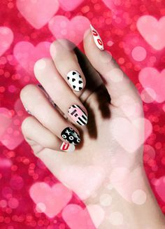 18 Adorable Nail Wraps for Valentine's Day