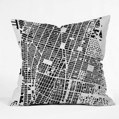 DENY Designs CityFabric Inc NYC White Throw Pillow 16 x 16 *** Want to know more, click on the image.