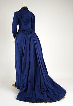 Dress, Visiting  Date: 1888–89 Culture: French Medium: silk, glass, cotton